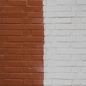 Eksempel på flot malet facade